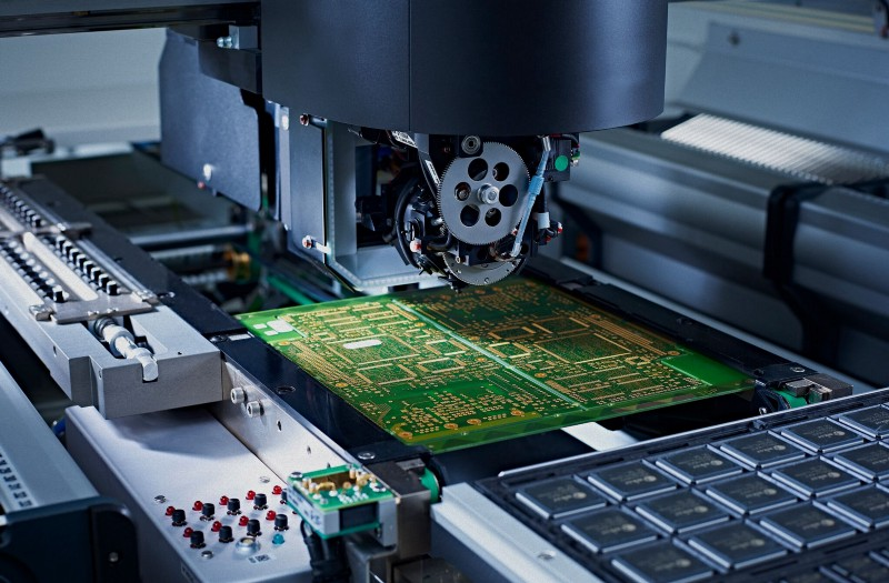 Pick and place machine in action