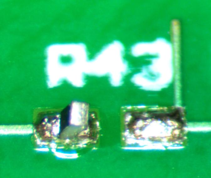 resistor tombstone