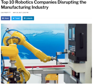 Disruptor Daily Names Tempo on List of Top 10 Companies Disrupting the Manufacturing Industry