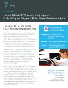 Tempo GE Healthcare Case Study