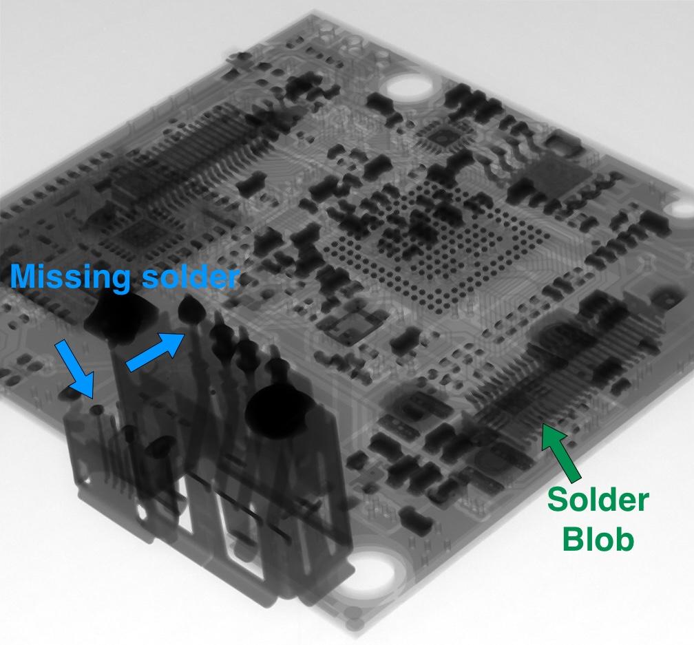 WiFi processor board solder Xray