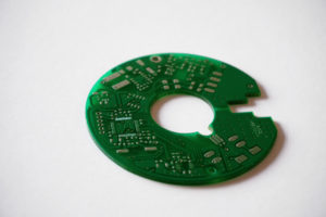 Round PCB with cutout
