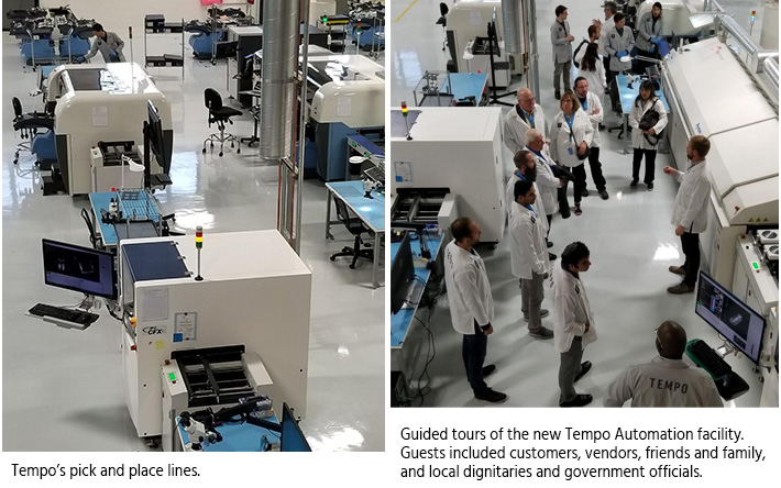 Pick and place lines at Tempo Automation's new factory.