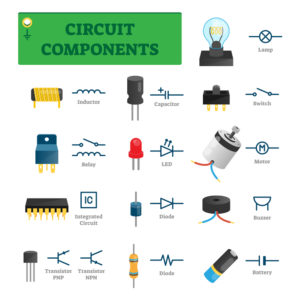 Listing of electronic components with graphics