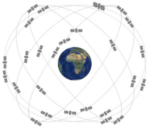 Earth's GPS constellation