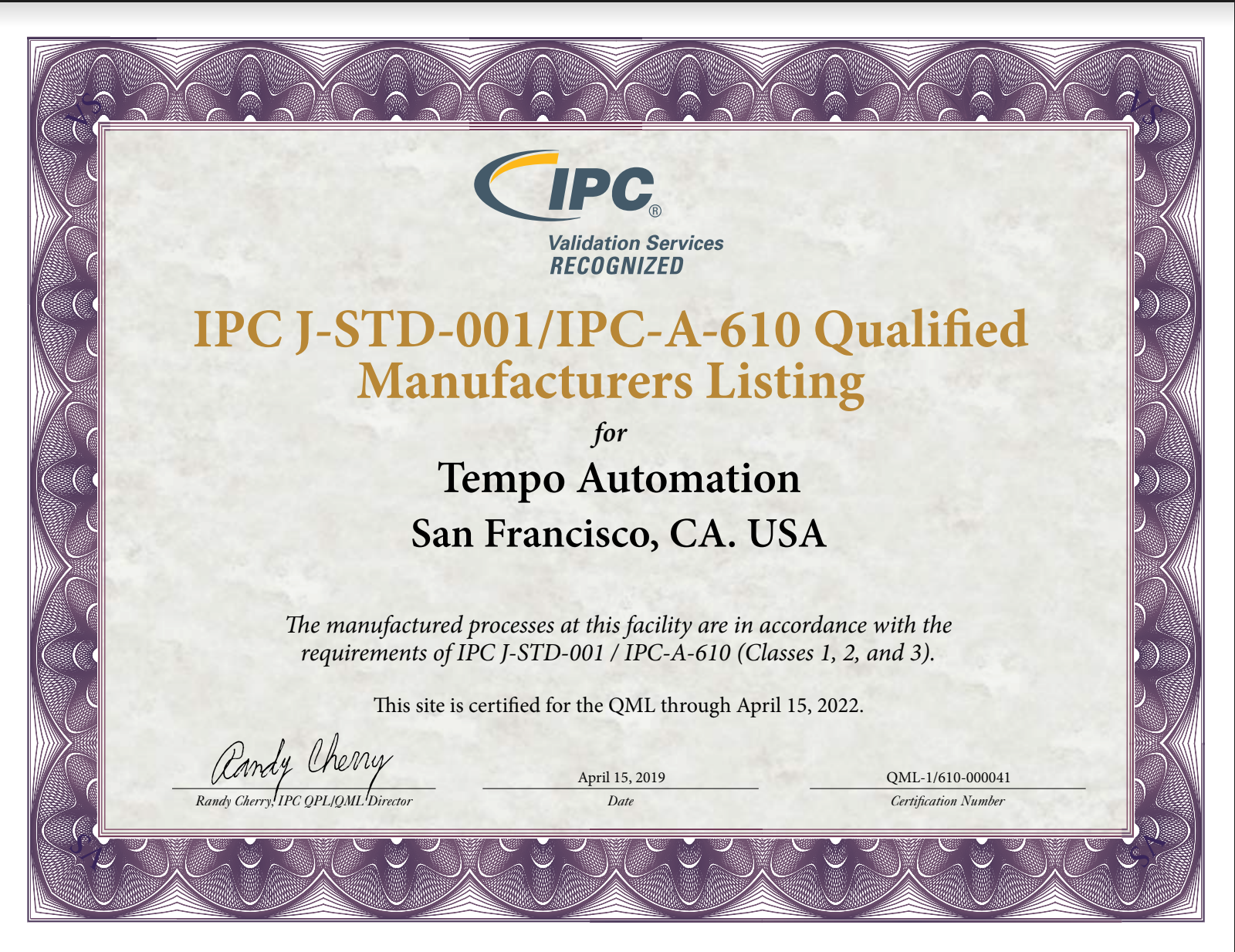IPC-A-610:J-STD-001