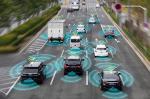 AVs using sensors to avoid objects