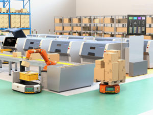 Robots picking orders