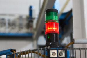 Industrial machine warning lights