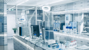 Medical laboratory with advanced equipment