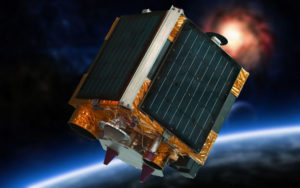 Space vehicle used for remote sensing of the earth