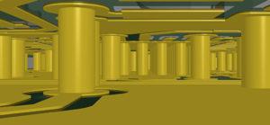 Cutaway of a circuit board