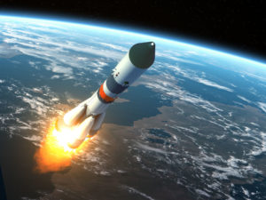 View of a cargo rocket launch