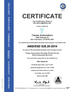 2020-0616 Tempo Automation Single Site ESD
