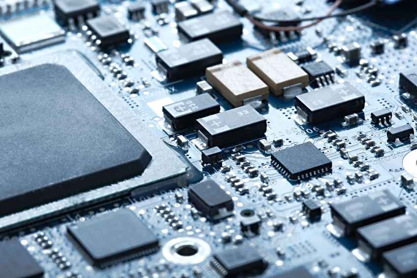 PCB with electrical components