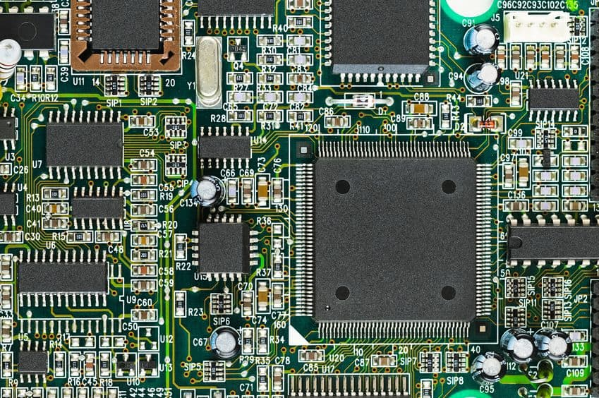 Circuit board after assembly