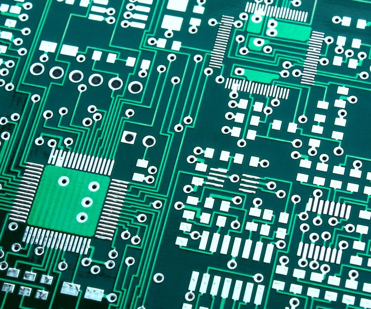Circuit board after fabrication