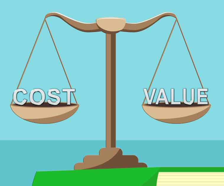 Achieving the best balance between cost and value