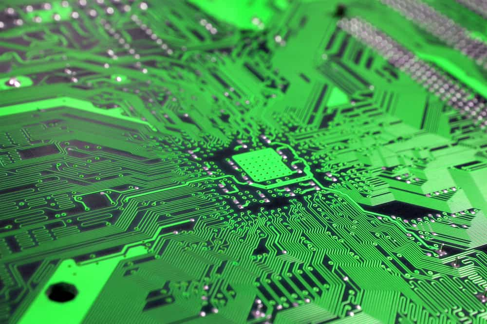 Circuit board displays results of PCB lamination process