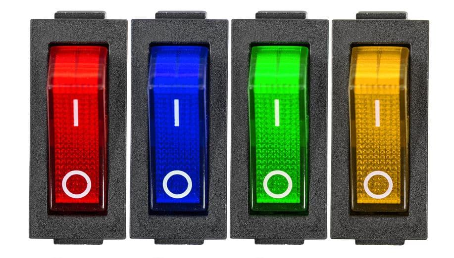 不同类型的电源开关