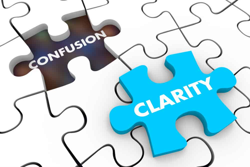 A lack of clarity leads to confusion