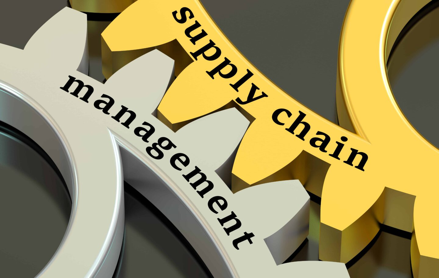 Interlocking gear illustration depicts the best high mix low volume supply chain strategy