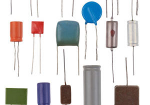 Capacitors types isolated on a white background