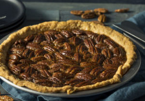 Sweet Homemade Crunchy Pecan Pie Ready to Eat
