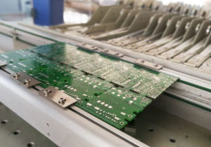 Printed circuit board without electronic components ready for assembly