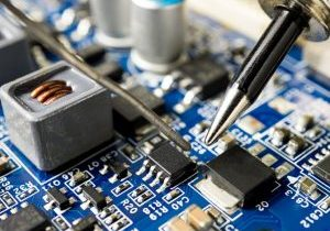 Soldering wires to a board