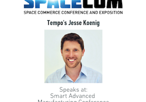 Tempo's Jesse Koenig speaks at SpaceCom 2018