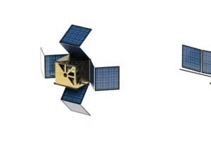 CubeSat communication system being deployed in orbit