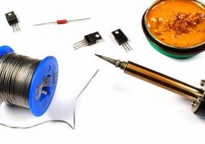 Rosin flux available to help solder in some components to a circuit board